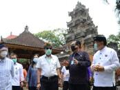 Menkumham Yasonna Laoly, Menlu Retno Marsudi dan Wamenparekraf Angela Tanoesudibjo berada di Bali, Senin, 10 Agustus 2020 - foto: Istimewa
