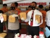 Barang bukti ganja seberat 14,5 kg yang diamankan dari jaringan Aceh-Sukabumi - foto: Istimewa