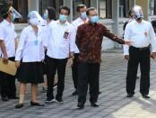Cek Sarana dan Prasarana Sekolah, Sekda Dewa Indra dan Kadispora Bali IKN Boy Jayawibawa meninjau kesiapan di SMAN 7 Denpasar, Rabu, 5 Agustus 2020 - foto: Istimewa