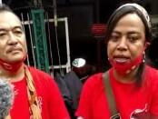 Koordinator Cabang Relawan Hebat Solo Begawan Ary Duta bersama Koordinator Relawan Hebat Solo Maria Magdalena Blegur, usai deklarasi, Kamis, 13 Agustus 2020 - foto: Istimewa