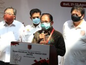 Gubernur Bali Wayan Koster mengapresiasi penyelenggaraan Rapat Koordinasi Tingkat Menteri yang digelar di ITDC Nusa Dua, Badung, tanggal 21-22 Agustus 2020 sebagai bentuk dukungan terhadap pemulihan ekonomi Bali yang terdampak pandemi Covid-19 - foto: Istimewa