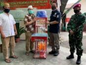 Sejumlah tempat ibadah di Jakarta mendapatkan bantuan masker dan peralatan sanitasi - foto: Bob/Koranjuri.com