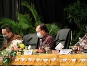 Gubernur Bali Wayan Koster menghadiri pertemuan antar parlemen dunia dalam membahas pemulihan ekonomi Indonesia pasca pandemi covid-19, Rabu, 23 September 2020 - foto: Istimewa