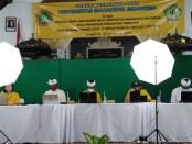 Orientasi Studi dan Pengenalan Kampus (OSPEK) di kampus Universitas Mahadewa Indonesia dilakukan secara daring, Senin, 28 September 2020 - foto: Koranjuri.com