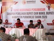 Rakor pengawasan tahapan pemilihan bupati dan wakil bupati Purworejo tahun 2020 - foto: Sujono/Koranjuri.com