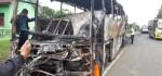 Terlibat Kecelakaan, Bis Putera Mulya Terbakar