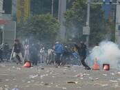 Ilustrasi demonstrasi menolak UU Omnibus Law di Surakarta, Jawa Tengah - foto: Istimewa