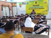 Salah satu peserta, saat mengikuti seleksi calon pengurus OSIS SMK Batik Purworejo masa bakti 2020-2021, Selasa (20/10/2020) - foto: Sujono/Koranjuri.com