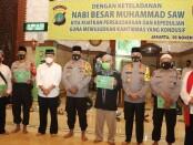 Peringatan Maulid Nabi Besar Muhammad SAW 1442 Hijriyah oleh Polda Metro Jaya, diselenggarakan dengan penerapan protokol ketat - foto: Bob/Koranjuri.com