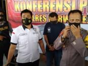 Tersangka Gembel, residivis pelaku curanmor kini ditahan di Mapolres Purworejo - foto: Sujono/Koranjuri.com