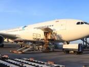 Penerbangan perdana Maskapai Garuda Indonesia rute khusus cargo Denpasar-Hongkong dari Bandara Internasional I Gusti Ngurah Rai, Denpasar, Sabtu (7/11/2020) - foto: Istimewa