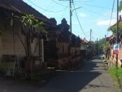 Suasana Banjar Tebongkang Ubud pasca puluhan warganya terkonfirmasi Covid-19, Kamis (12/11/2020) - foto: Catur/Koranjuri.com