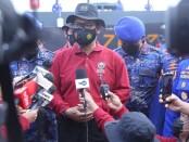 Divisi Humas Polri menggelar workshop digital pelatihan peliputan tanggap bencana bagi personel Humas Polri dan wartawan di Mako Polairud Barhakam Polri, Tanjung Priok, Jakarta Utara, Jumat (13/11/2020) - foto: Bob/Koranjuri.com