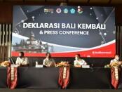 Deklarasi gerakan 'Bali KemBali' di Hotel Sheraton, Kuta, Bali, Minggu (15/11/2020) - foto: Istimewa
