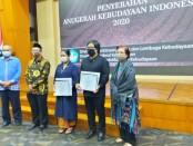 Penyerahan Anugerah Kebudayaan 2020 yang diselenggarakan Direktorat Kebudayaan Kementerian Pendidikan dan Kebudayaan - foto: Istimewa