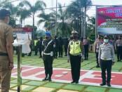 Apel gelar pasukan Operasi Lilin Candi 2020 di Mapolres Purworejo, Senin (21/12/2020) - foto: Sujono/Koranjuri.com
