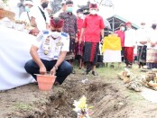 Ground Breaking pembangunan Pelabuhan Penyeberangan Bias Munjul, di Nusa Ceningan, Selasa, (29/12/2020) - foto: Istimewa
