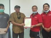 Purwanto Iman Santoso (Merah-kanan) menjadi salah satu peserta terbaik di PPF Level 2 Nasional Yogyakarta - foto: Koranjuri.com