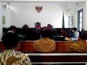 Sidang gugatan FKPPI terhadap hasil putusan inkrah yang memenangkan Tanah Sriwedari sebagai milik ahli waris digelar di Pengadilan Negeri (PN) Surakarta hari ini Kamis, (14/1/2020) siang - foto: Istimewa