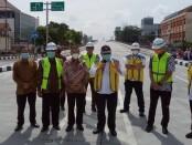Menteri PUPR Basuki Hadimuljono meresmikan Flyover Purwosari sepanjang 700 meter di Jalan Slamet Riyadi, Solo, Jawa Tengah, Sabtu (13/2/2021) - foto: Istimewa