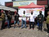 Komunitas Driver Online Bali (DOB) menggelar 2nd Anniversary dengan melakukam aksi sosial donor darah di markas PMI Provinsi Bali, Minggu, 14 Februari 2021 - foto: Koranjuri.com