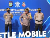 Kapolda Metro Jaya Irjen Fadil Imran meluncurkan penggunakan E-TLE portable, ada 30 kamera Elektronic Traffic Law Enforcement (E-TLE) portable ini - foto: Bob/Koranjuri.com