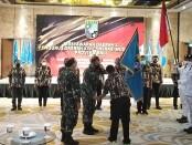 Pengukuhan pengurus GM FKPPI Provinsi Bali dalam Musda X Pengurus Daerah XIV Generasi Muda FKPPI Provinsi Bali, Sabtu, 20 Maret 2021 - foto: Koranjuri.com