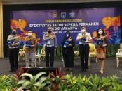 Direktorat Lalu Lintas Polda Metro Jaya bersama Pemprov DKI Jakarta menggelar focus group discussion (FGD) bersama komunitas sepeda dan akademisi untuk membahas efektivitas jalur sepeda permanen di Jakarta - foto: Bob/Koranjuri.com