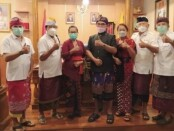 Ketua Bidang Kerjasama dan Kemitraan PMI Bali IGA Diah Werdhi Srikandi W.S bersama tim melakukan audiensi ke DPRD Bali, Kamis (8/4/2021) - foto: Istimewa