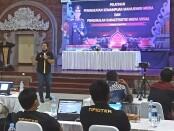 Suasana pelatihan manajemen media dan pengenalan karateristik medsos. Pelatihan diadakan di Gedung PRG Polda Bali, Jl. WR Supratman, Denpasar, Kamis 1 April 2021 - foto: Istimewa