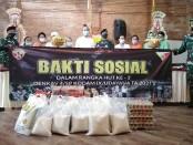 Bakti sosial di Yayasan Shanti Yadnya yang merupakan salah satu pasraman Hindu di Denpasar, dalam memperingati HUT Ke-3 Denkav 4/SP Kodam IX/Udayana, Jumat, 9 April 2021 - foto: Koranjuri.com