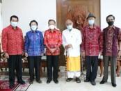 Majelis Pertimbangan dan Pembinaan Kebudayaan Bali (Listibiya) menyampaikan dukungan terhadap pembangunan Pusat Kebudayaan Bali di Gunaksa, Kabupaten Klungkung - foto: Istimewa