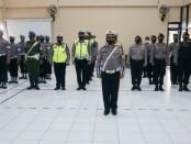 Apel gelar pasukan Operasi Keselamatan Candi 2021 di Polres Purworejo, Senin (12/04/2021) - foto: Sujono/Koranjuri.com