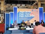 Kominfo menggelar webinar series II dengan mengangkat tema, 'Jaga Berita, Jaga Cinta, Jaga Indonesia' di Kuta, Kamis 15 April 2021 - foto: Koranjuri.com