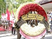 Sebuah karangan bunga merah putih bertuliskan 'Untuk Indonesia Raya, Wira Ananta Rudhiro, Tabah Sampai Akhir' dari Megawati Soekarnoputri - foto:Istimewa