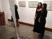 Sun Rang Fong atau Funky Sun, seniman asal China menggelar pameran tunggal bertajuk 'Obart' - foto: Koranjuri.com