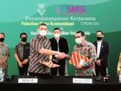 Ketua Umum SMSI Firdaus, Selasa (4/5/2021) dalam acara penandatanganan kerjasama penyelenggaraan UKW antara SMSI dan Lembaga Uji Kompetensi Wartawan Fakultas Ilmu Komunikasi Universitas Prof Dr Moestopo (Beragama) di Laboratorium Multimedia FIKOM UPDM (B), Jakarta Selatan - foto: Istimewa