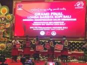 Para pemenang Grand final Barista Kopi Bali, Lomba yang diadakan dalam memperingati HUT Ke-48 Partai Demokrasi Indonesia Perjuangan (PDIP) - foto: Istimewa