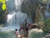Air Terjun Oefamba di Dusun Tuabuna, Desa Kolobolon, Kecamatan Lobalain, Kabupaten Rote Ndao, NTT - foto: Isak Doris Faot/Koranjuri.com