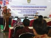 Bupati Purworejo Agus Bastian saat memberikan pengarahan pada 43 calon kades terpilih dalam Pilkades serentak 2021, Kamis (27/05/2021) - foto: Sujono/Koranjuri.com