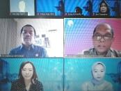 Webinar bertajuk Stikomers Business Talks: Digital Scholarship Talent & Personal Development Plans yang diadakan kampus ITB STIKOM Bali, Sabtu, 29 Mei 2021 - foto: Koranjuri.com