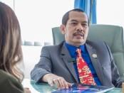 Rektor ITB STIKOM Bali Dr Dadang Hermawan sebelum mengikuti acara 'Pitching  Night, Investor Headquarter' yang disiarkan secara virtual, Sabtu (26/6/2021) - foto: Istimewa