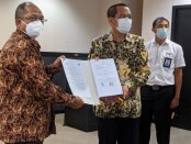 ITB STIKOM Bali melakukan nota kesepahaman dengan Kementerian Komunikasi dan Informatika di Hotel Aston Denpasar, Senin, 28 Juni 2021 - foto: Istimewa