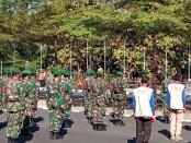 Pangdam dan Kapolda Jawa Tengah memimpin apel bersama di halaman stadion Manahan, Solo - foto: Koranjuri.com