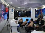Wabup Purworejo Yuli Hastuti saat mengikuti rapat koordinasi evaluasi PPKM Darurat Jawa-Bali secara virtual yang dipimpin oleh Menko Marves Luhut Binsar Pandjaitan, Rabu (14/07/2021) - foto: Sujono/Koranjuri.com