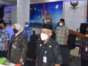 Wabup Purworejo Yuli Hastuti, SH, saat mengikuti kegiatan virtual Bridging Leadership Bangga Kencana, di Command Center Dinkominfo, Kamis (29/07/2021) - foto: Sujono/Koranjuri.com