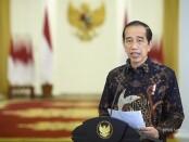 Presiden Joko Widodo mengumumkan perpanjangan PPKM Level 4 melalui kanal youtube Sekretariat Presiden, Senin, 2 Agustus 2021 - foto: Koranjuri.com