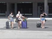 Perbandingan pencapaian penumpang pada periode Juli 2021 dibandingkan pada Juni 2021 di Bandara Ngurah Rai, secara persentase turun 81% - foto: Istimewa