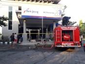 Kondisi Kantor Cabang Bank Jateng Purworejo, usai mengalami kebakaran, Kamis (05/08/2021) - foto: Sujono/Koranjuri.com