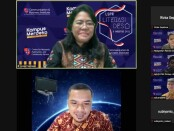 Webinar pengabdian masyarakat London School Public Relation (LSPR) Prodi Ilmu Komunikasi bersama pelaku UMKM di Desa Tridayasakti, Kecamatan Tambun Selatan, Kabupaten Bekasi - foto: Istimewa